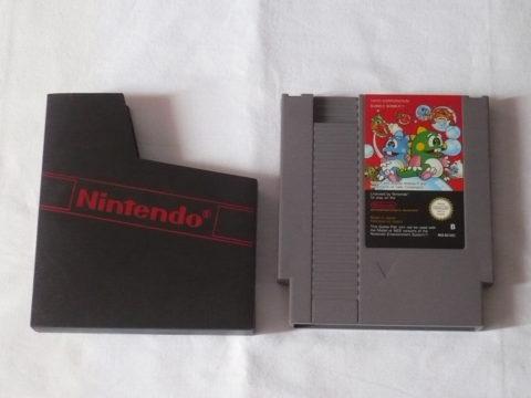 Photo du jeu Bubble Bobble sur Nintendo Entertainment System (NES).