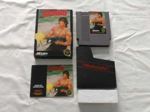 Photo du jeu Rambo sur Nintendo Entertainment System (NES).