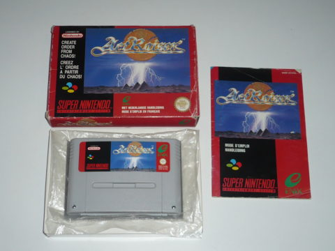 Photo du jeu Actraiser sur Super Nintendo (PAL).
