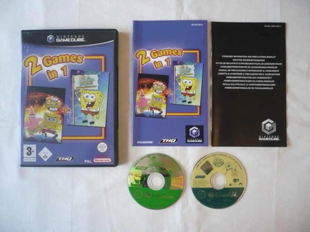 2 Games in 1: Der Spongebob Schwammkopf Film + Spongebob Squarepants: Battle for Bikini Bottom sur GameCube