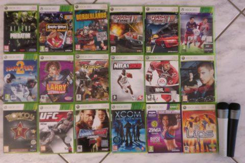 Photo du deuxième lot de jeux Xbox 360 reçu en janvier 2020.