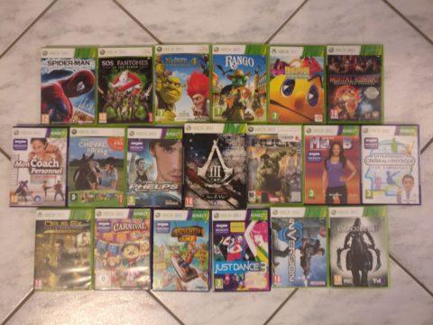 Lot de 19 jeux Xbox 360 ajoutés à ma collection.