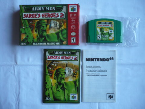 Photo du jeu Army Men: Sarge's Heroes 2 sur Nintendo 64 (version américaine)