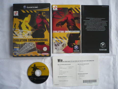 Photo du jeu Evolution Snowboarding sur GameCube PAL.