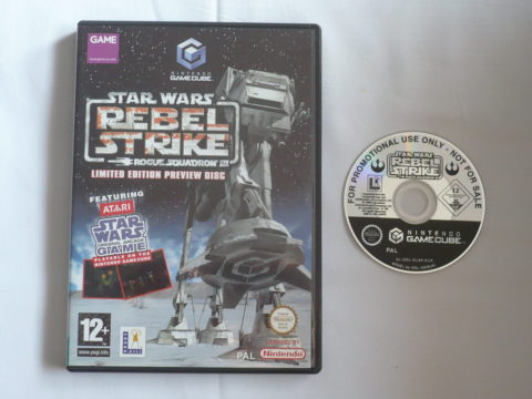 Photo du jeu Star Wars: Rogue Squadron 3: Rebel Strike - Limited Edition Preview Disc sur GameCube PAL.