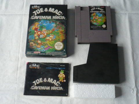 Photo du jeu Joe & Mac: Caveman Ninja sur Nintendo Entertainment System (NES).