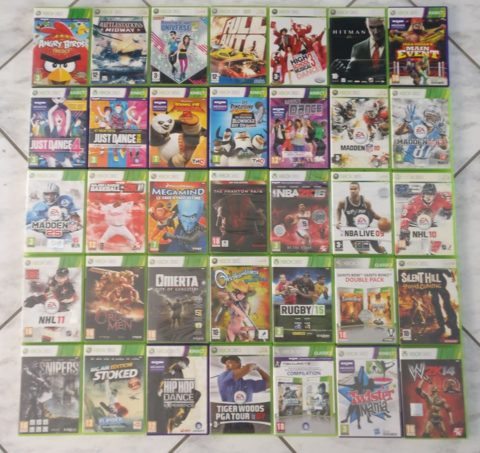 Photo d'un lot de 35 jeux Xbox 360