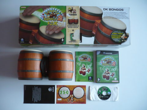 Photo du jeu Donkey Konga 2 sur GameCube PAL.
