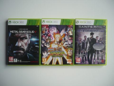 Photo de trois jeux Xbox 360 pour le fullset PAL.