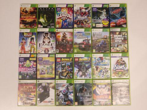 Première partie du lot de jeux Xbox 360 acheté en novembre 2020.