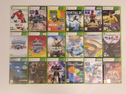 Deuxième partie du lot de jeux Xbox 360 acheté en novembre 2020.