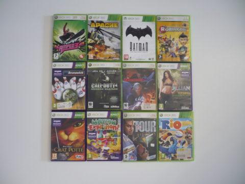 Lot de jeux Xbox 360 achetés en avril 2021