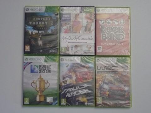Six jeux neufs sur Xbox 360