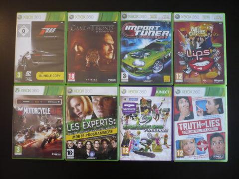 Lot de 8 jeux Xbox 360.