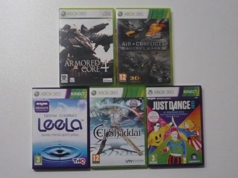 Cinq jeux Xbox 360